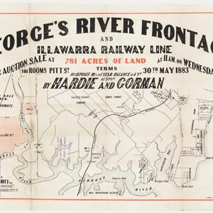 [Georges River subdivision plans] [cartographic material]