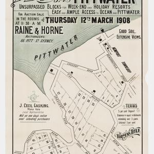 [Mona Vale subdivision plans] [cartographic material]