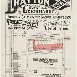 [Leichhardt subdivision plans] [cartographic material]