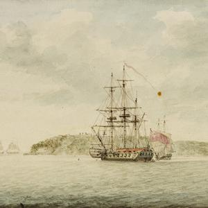 Botany Bay [New South Wales, ca 1789  / watercolour by Charles Gore]