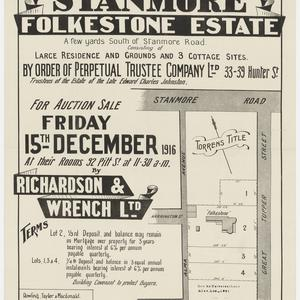 [Stanmore subdivision plans] [cartographic material]