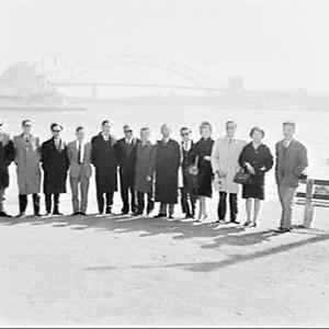 Group of BOAC travel agents, Mrs. Macquarie's Point