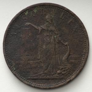 Item 1657: Iredale & Co. penny token, [ca. 1857]