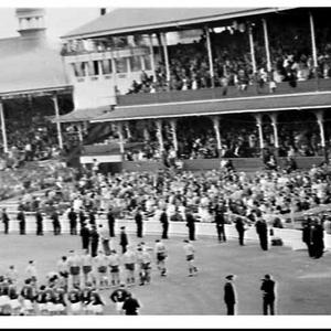 Anti-apartheid demonstration during the South African Springboks Rugby Union tour 1971, Sydney Cricket Ground