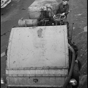 Gordon Gilmore [Gilmour?] street sweeper, 29 August 1945