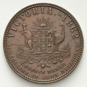 Item 3178: T. Stokes [Thomas Stokes] penny token, 1862